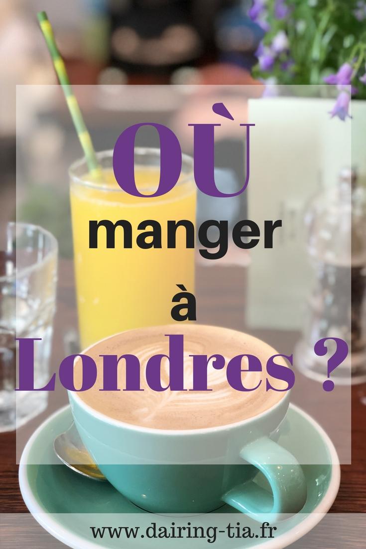 Où manger à Londres ?