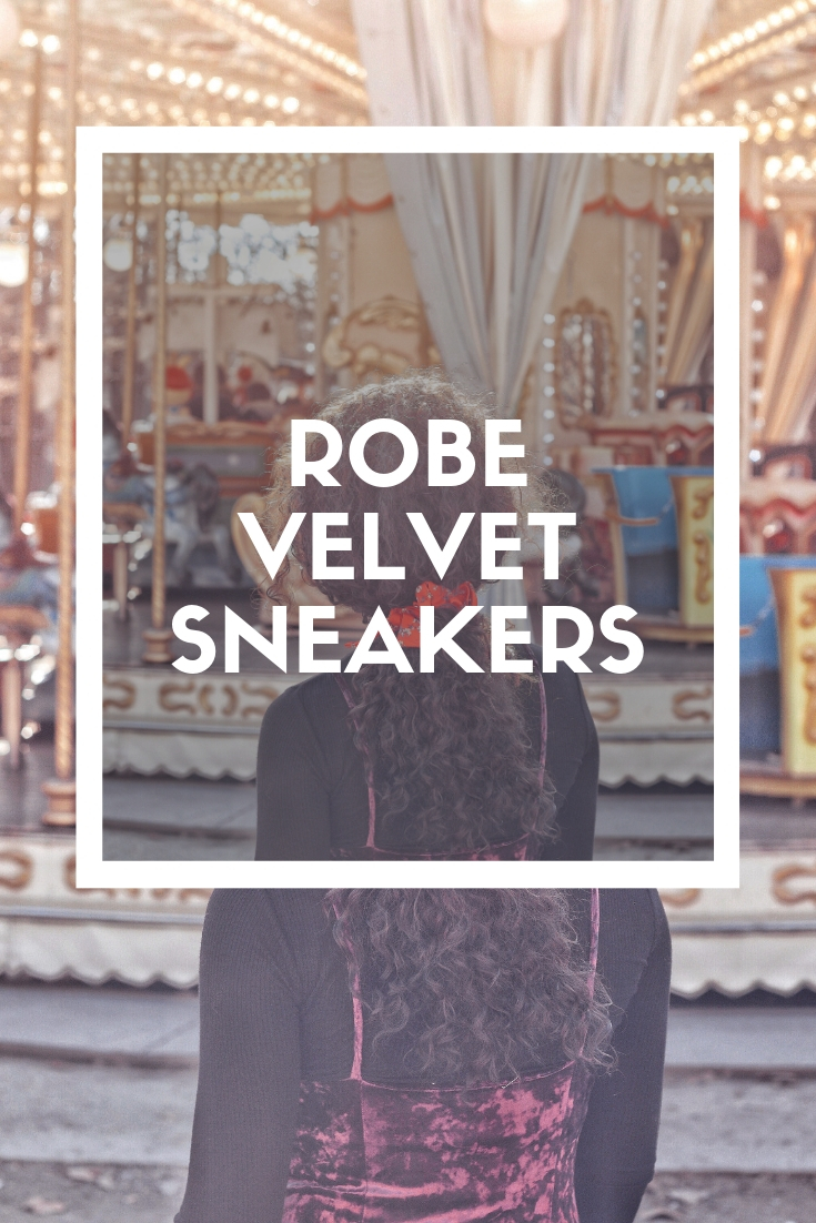 LOOK : ROBE VELVET x SNEAKERS